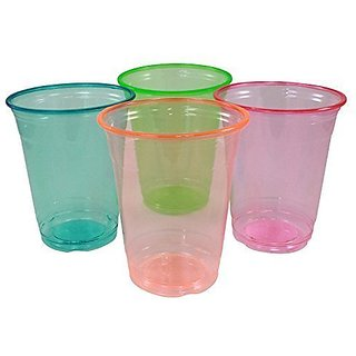 Enimay 12 oz. Neon Tumber Cups Soft Plastic Assorted Party Supplies 20 Pack