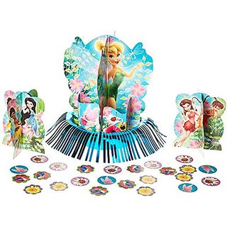 Disney Tinkerbell and the Fairies 3-D Birthday Party Table Decorating Kit (12 Pack), Multi Color, 12 3 5