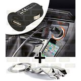 Usb Mobile Car Charger & Jaguar Key Chain