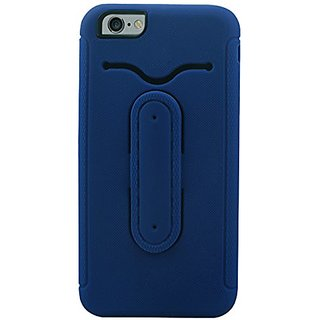 Reiko Multifunction Hybrid Case for iPhone 6 Plus 5.5inch, iPhone 6S Plus 5.5inch - Retail Packaging - Navy