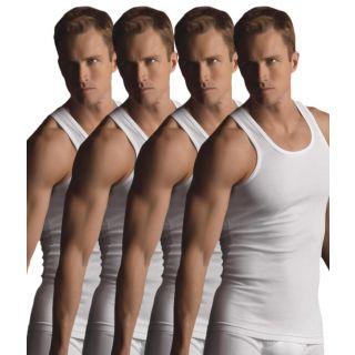 White cotton vests set of 4 combo pack
