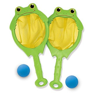 Melissa & Doug Sunny Patch Froggy Toss and Catch Net and Ball