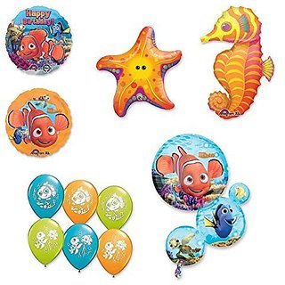 Finding Nemo 11 pc Birthday Sea Party Balloon Decoration Kit
