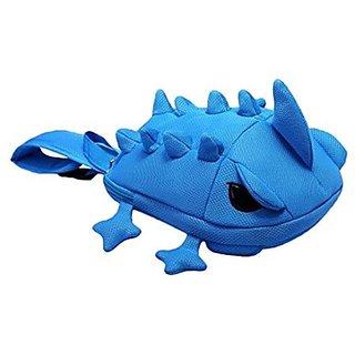 3D One-Corn lizard Cool Kids Backpack Cute Children Travel Shoulder Bag School Bag BLUE