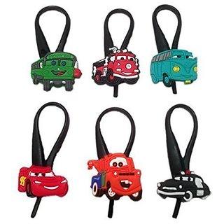 Cars Silicone Snap Lock Zipper Pulls 6 Pcs Set #2
