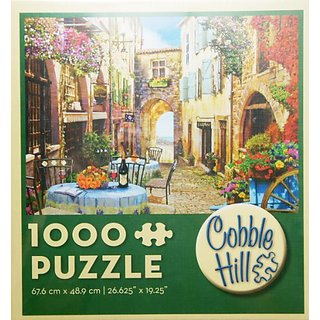 Cobble Hill Puzzle FRENCH VILLAGE 1000 Piece Jigsaw Puzzle MADE IN USA PUZZLE