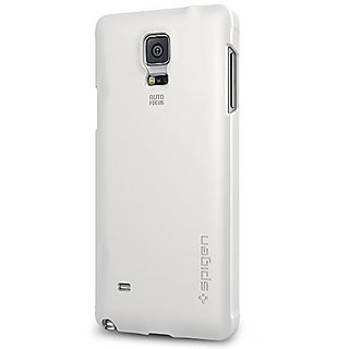 Spigen Thin Fit Galaxy Note 4 Case with Premium Matte Finish Coating for Samsung Galaxy Note 4 2014 - Shimmery White