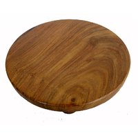 Wooden Hand Made Carved Chapti Plate #S1683
