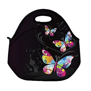 ProfessionalBags ICOLOR Cute Three Butterflies Insulated Neoprene Gourmet Lunch Bag
