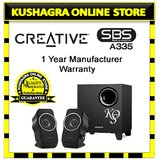 Genuine Creative Multimedia Speakers Sbs A-335 2.1 Home Theatre System With Bill