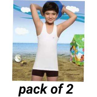 Kids cotton vests pack of 2 (7+12)