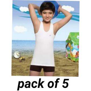 Kids cotton vests pack of 5 (7+12)