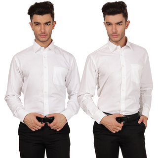 Platinum Combo Casual Full Sleeve Solid Cotton Shirt for Men