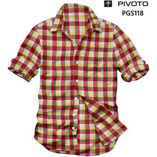 Platinum Multicolor Checks Half Sleeve Formal Shirts