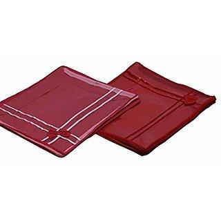 Kuber Industries Non Woven Transparent Designer Multi Saree Cover (5-10 Sarees Capacity) Set Of 4 Pcs Scm125