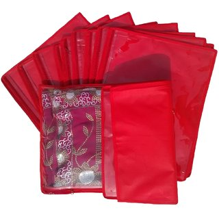 Non Woven Single Saree Covers - Set Of 12 K305