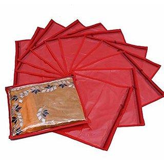 Single Saree Cover 12 Pcs Set (Red) K012