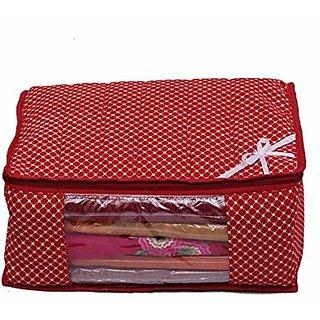 Kuber Industries Saree Cover Wardrobe Organiser Regular Cloth Bag In Polk Dots K037