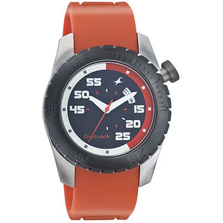 Fastrack  Male Orange Watch- 3006SP04