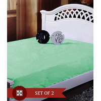 Deal Wala Pack Of 2 Mattress Protector - Green