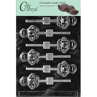 Cybrtrayd K037 Robot Lolly Chocolate Candy Mold with Exclusive Cybrtrayd Copyrighted Chocolate Molding Instructions