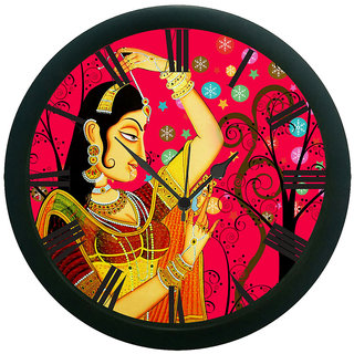 AE World Lady Wall Clock (With Glass)