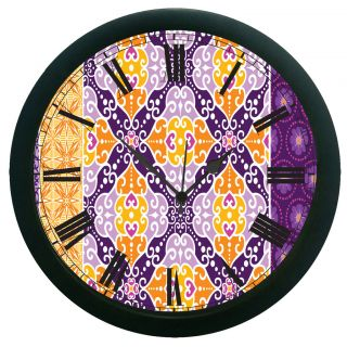 AE World Multi Colour Ethnic Wall Clock (With Glass)