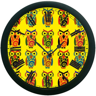 AE World Owl Wall Clock (With Glass)