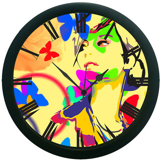 AE World Abstract Face Wall Clock (With Glass)