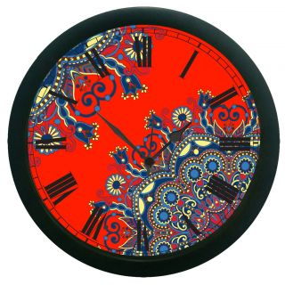 AE World Red Wall Clock (With Glass)