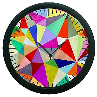 AE World Geometric Wall Clock (With Glass)