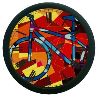 AE World Bicycle Wall Clock (With Glass)