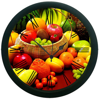 AE World Fruits Wall Clock (With Glass)