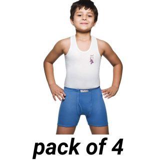 Kids cotton vests pack of 4