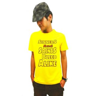 LetsFlaunt Yellow Round Neck Half Sleeve  T-shirt