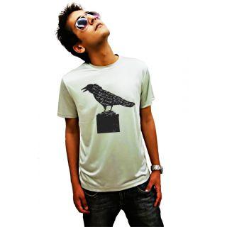LetsFlaunt Gray Round Neck Half Sleeve  T-shirt