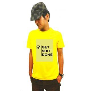 LetsFlaunt Yellow Round Neck Half Sleeve  T-shirt