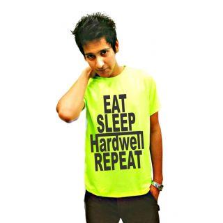LetsFlaunt Green Round Neck Half Sleeve  T-shirt