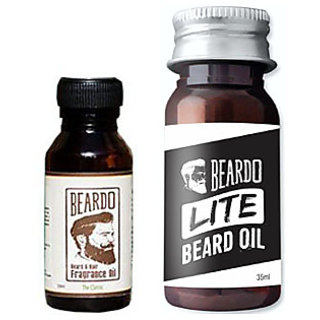 Beardo Beard  Hair Fragrance Oil, The Classic (10ml) And BEARDO LITE Beard and Mustache Oil (35ml) Combo.