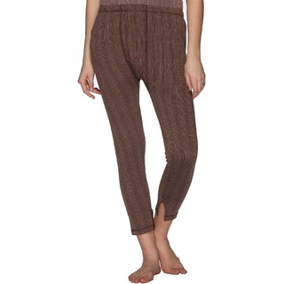Vimal Premium Cotton Blended Brown Thermal Bottom For Women