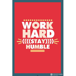 Hungover Work Hard Stay Humble Special Paper Poster (12x18 inches)