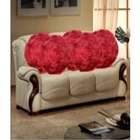 Deal Wala Set Of 5 Attractive Circle Rose Design Cushion Cover-dark Pink