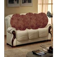 Deal Wala Set Of 5 Attractive Circle Rose Design Cushion Cover-coffee