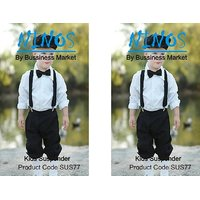 Nino's SUSPENDER WITH BOW TIE for KIDS up to 2 - 10 year old