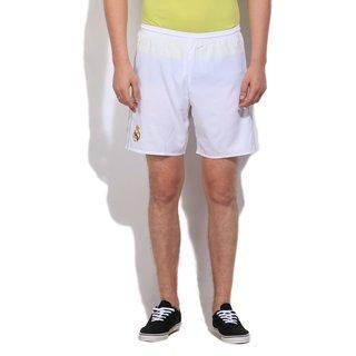 White realmadri football shorts