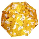 Zadine Medium  Golden Silk Floral Print Umbrella 2 Fold _Umb_07