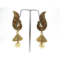 Dancing Peacock Jhumka Earring