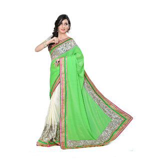sareeka sarees multi color satin saree with blouse piece