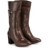 Nell Women Brown Zip Boots