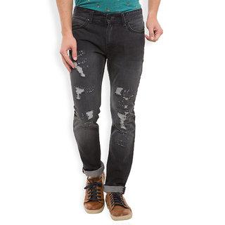 Locomotive Black Regular Fit Mid Rise Jeans For Men